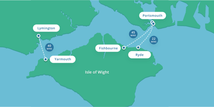 Wightlink Isle of Wight Map
